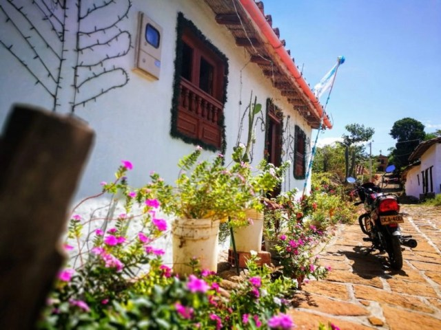 One of the many quaint and beautiful houses in Guane, El Camino Real Colombia