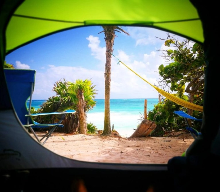 Our Camping Spot - El Ultimo Maya - Tulum on a Budget