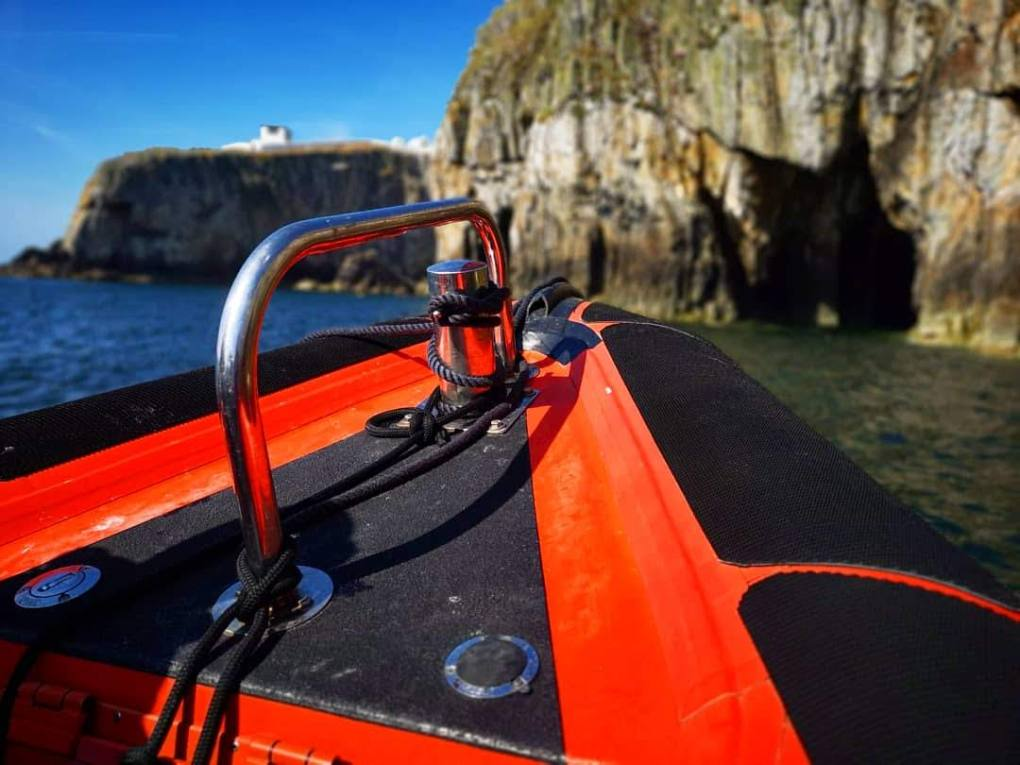 Exploring caves - The Magical Skerries – Rib Ride Anglesey, North Wales - Destination Addict