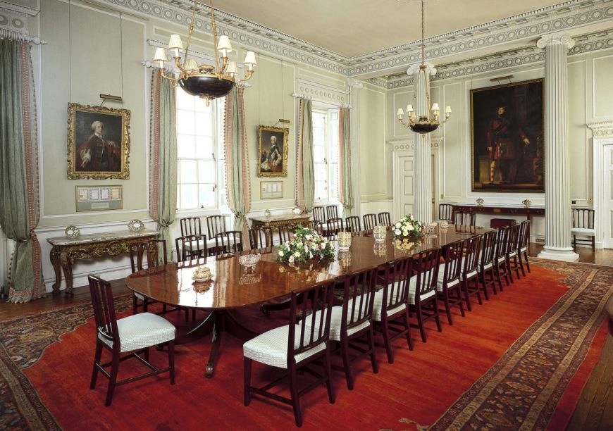 The Dining Room, The Palace at Holyroodhouse, Edinburgh. Credit - Royal Collection Trust / © Her Majesty Queen Elizabeth II 2018 - Destination Addict 24 Hours In Edinburgh.