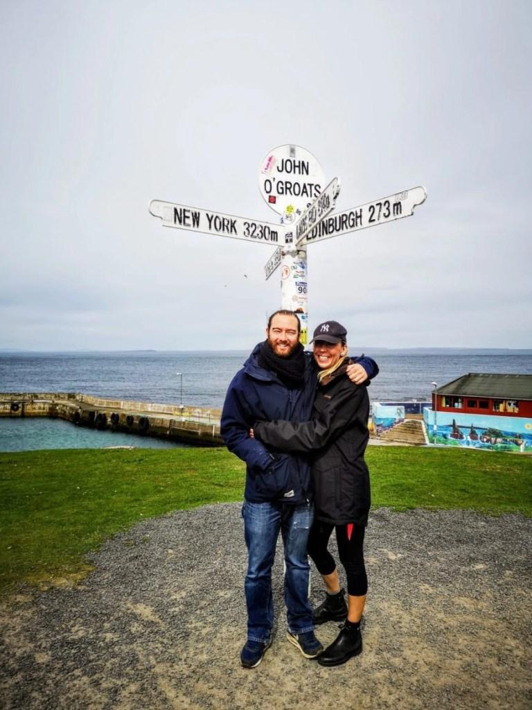 Obligatory pic at John O'Groats,  NC500 – An Epic Itinerary For Scotland's North Coast - Destination Addict