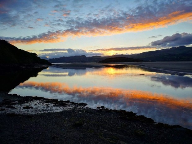 Sunset at Portmeirion, North Wales, UK