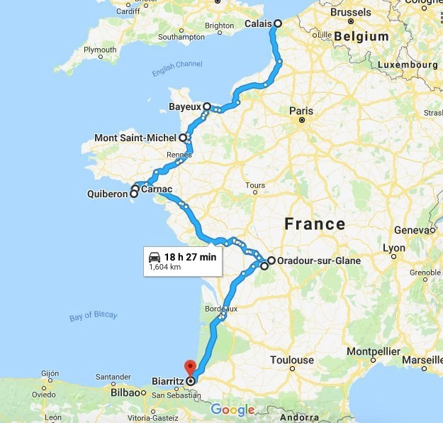 Van Life Europe - Our route through France