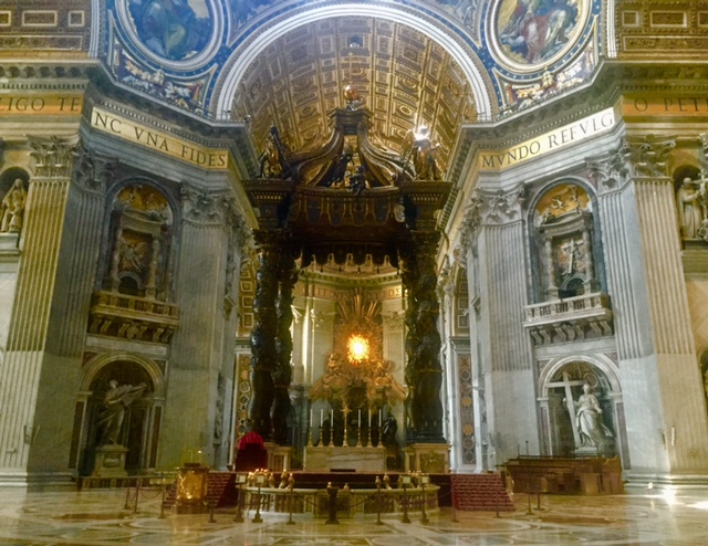 Inside St. Peter's Basilica - The Papal Altar