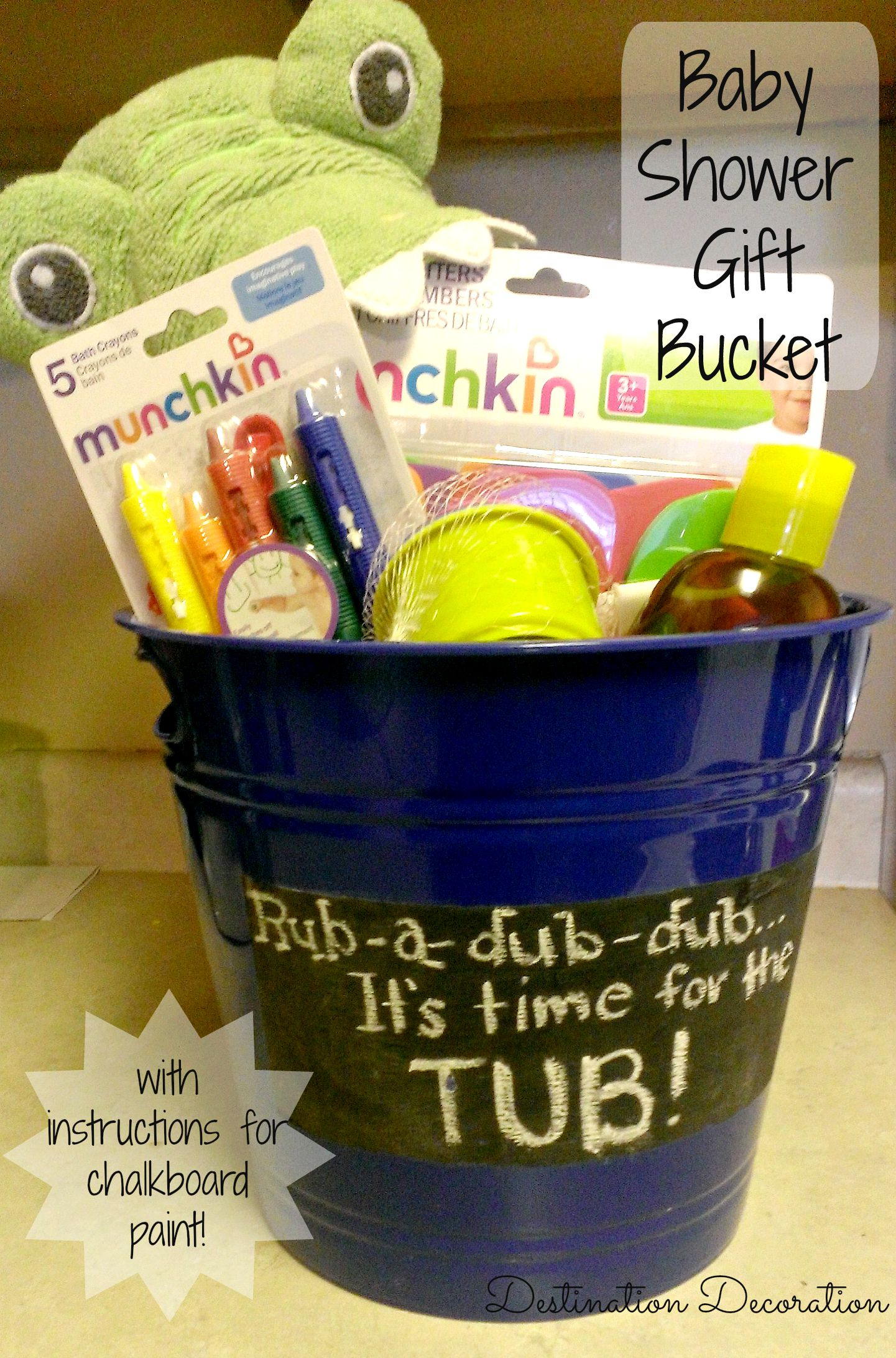 Baby Shower T Bucket With Chalkboard Paint