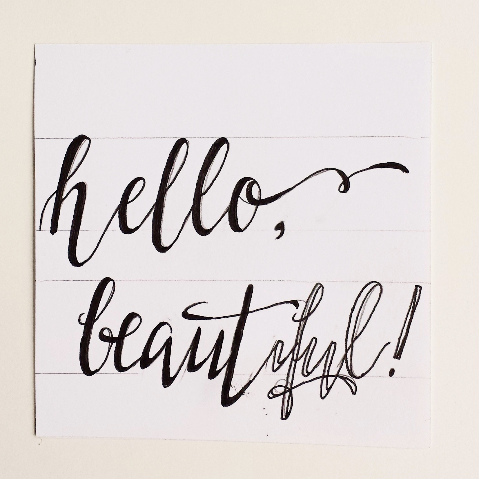 Drawing Lines For Calligraphy : How to do fake calligraphy