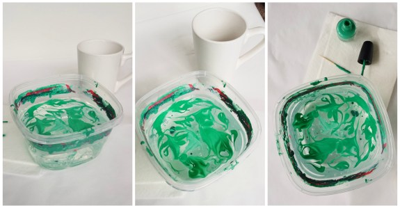 Marbled Nail Polish Mugs-Nail Polish on Water