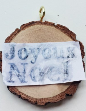 Transferring Words Onto Christmas Ornament