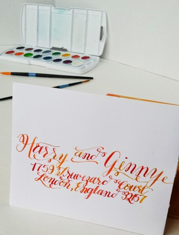 7 Methods of Addressing Envelopes -- Watercolor Calligraphy -- Destination Decoration