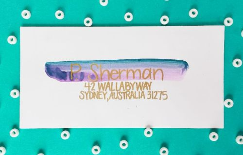 7 Methods of Addressing an Envelope -- Create a Watercolor Swash -- Destination Decoration
