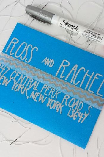 7 Ways to Address an Envelope -- Use Gold or Silver Marker -- Destination Decoration