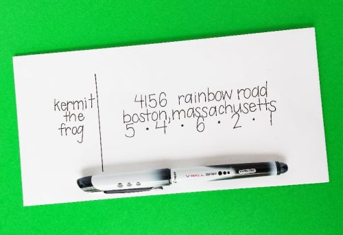 7 Ways to Address an Envelope -- Use a Rollerball Pen and Put the Name on the Left -- Destination Decoration