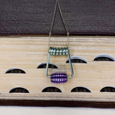 DIY Accessories -- Clothespin Necklace Made Using Clothespins, Beads, and a Necklace Chain -- Destination Decoration