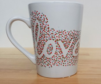 Three-Color Dotted Sharpie Mug