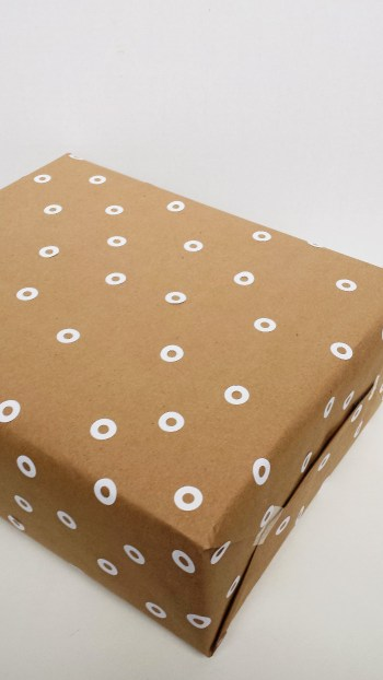 Use Hole Reinforcers to Create Beautiful Wrapping Paper