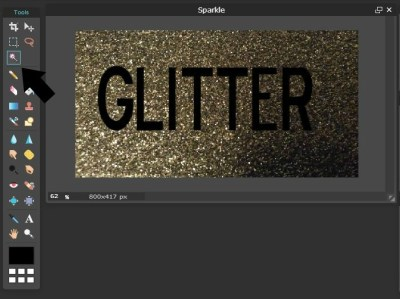 Use a Photo Editing Tool to Add Glitter or Gold Texture to Text