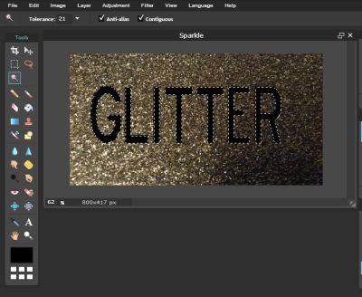 Using Pixlr to Add a Texture Effect to Text