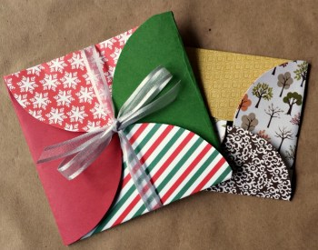 Scrapbook Paper Envelopes with Circles