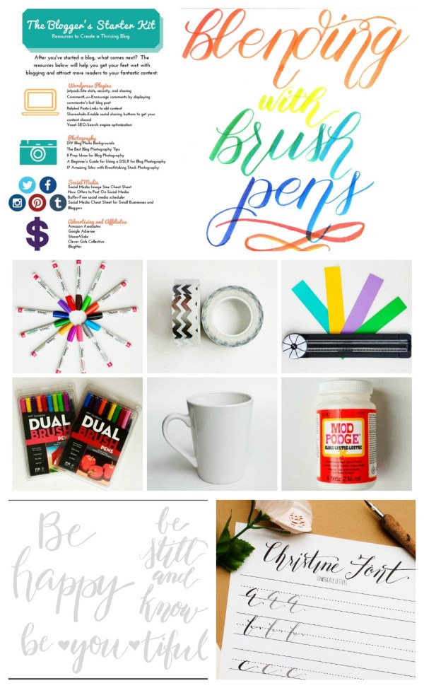 Destination Decoration Resource Library | Free Crafting Resources | Brush Lettering, Calligraphy, Craft Supplies, and More | Printables, Resource Lists, and How-Tos