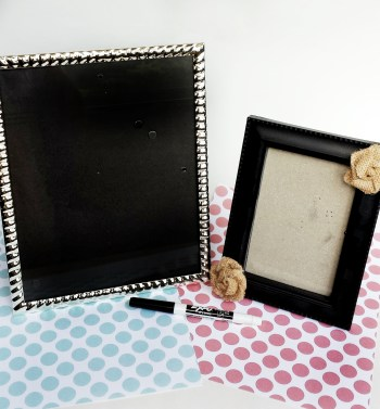 How to Make Your Own Dry Erase Frames with a Picture Frame | Create a Dry Erase Board for To Do Lists, Grocery Lists, and More with a Picture Frame and Scrapbook Paper