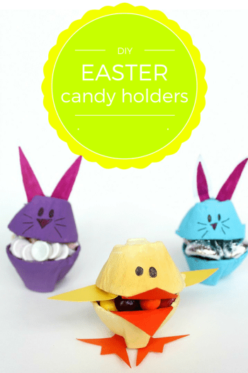 How to Make Easter Candy Holders | Use Old Egg Cartons to Make Adorable Chicks and Bunnies for a Fun and Easy Easter Project | Destination Decoration