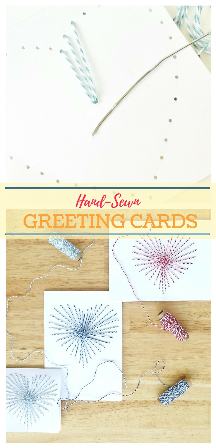 Hand sewn greeting cards with bakers twine how to make hand sewn greeting cards use bakers twine to make a gorgeous diy how to make hand sewn greeting cards use bakers twine to make a gorgeous m4hsunfo