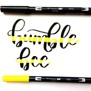 How to Create Striped Lettering Using Brush Pens