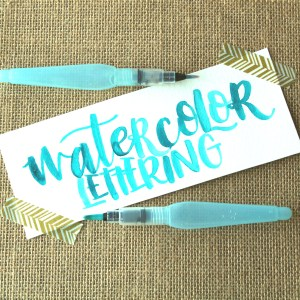 How to Create Watercolor Brush Lettering with a Water Brush | Use a Pentel Aquash Water Brush to Create Stunning Lettering | Destination Decoration