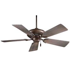 Ceiling Fan without Light   Energy Efficient Ceiling Fans 44 Inch Ceiling Fan with Five Blades in Oil Rubbed Bronze Finish