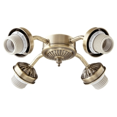 LED Ceiling Fan Light Kits   Fan Light Kits   Destination Lighting Quorum Lighting Antique Brass Fan Light Kit