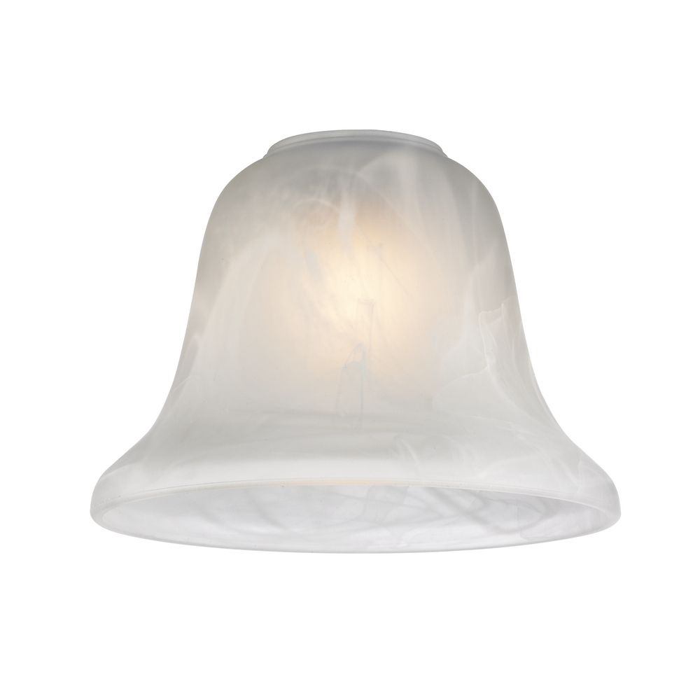 alabaster glass bell shade 1 5 8 inch fitter opening at destination lighting