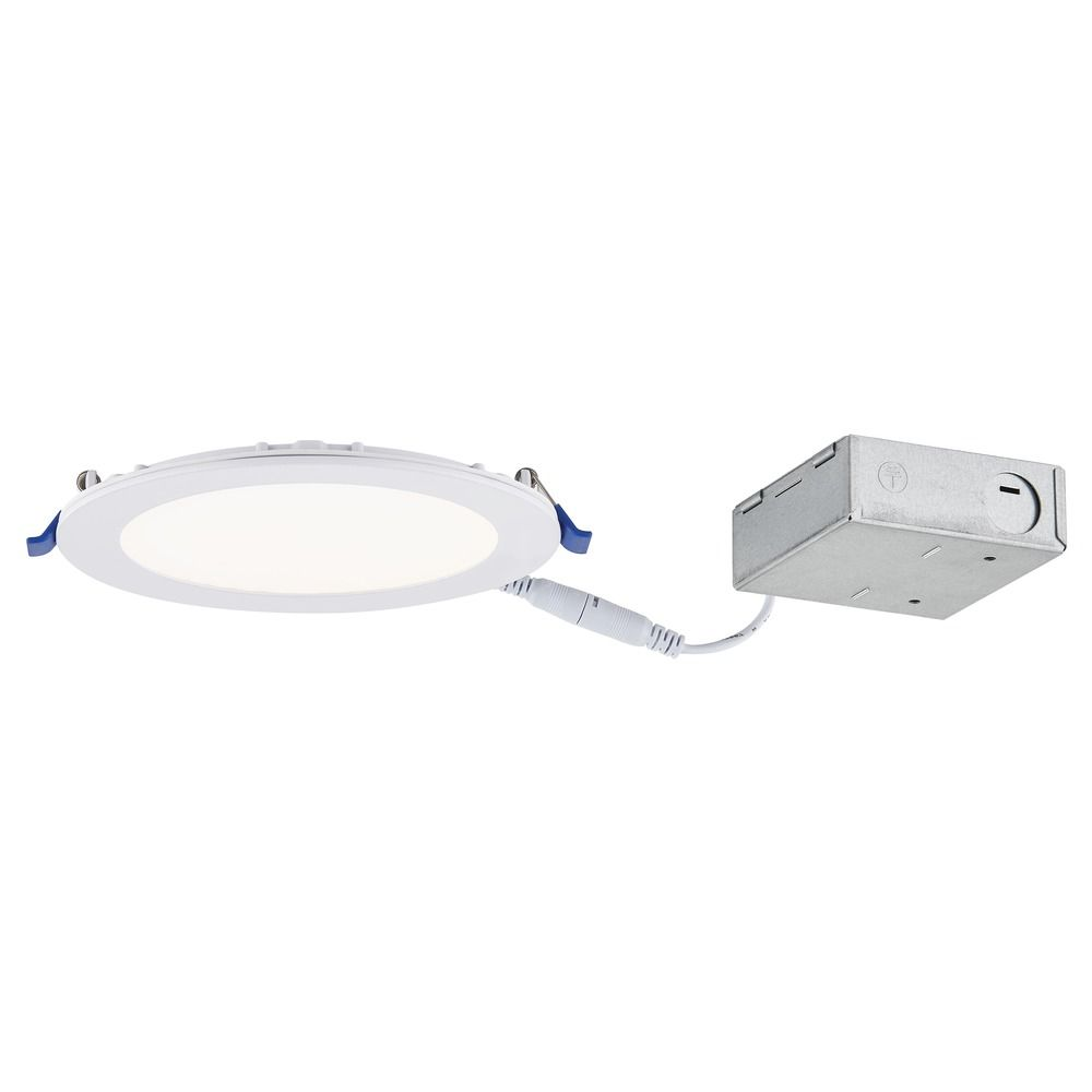 6 inch shallow canless led recessed light 2700k 780lm ic and airtight at destination lighting