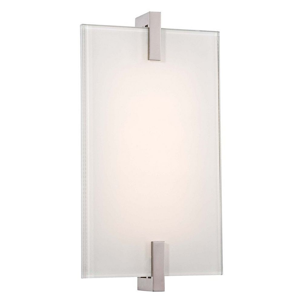 Modern LED Sconce Wall Light in Polished Nickel Finish ... on Led Sconce Lighting id=54866
