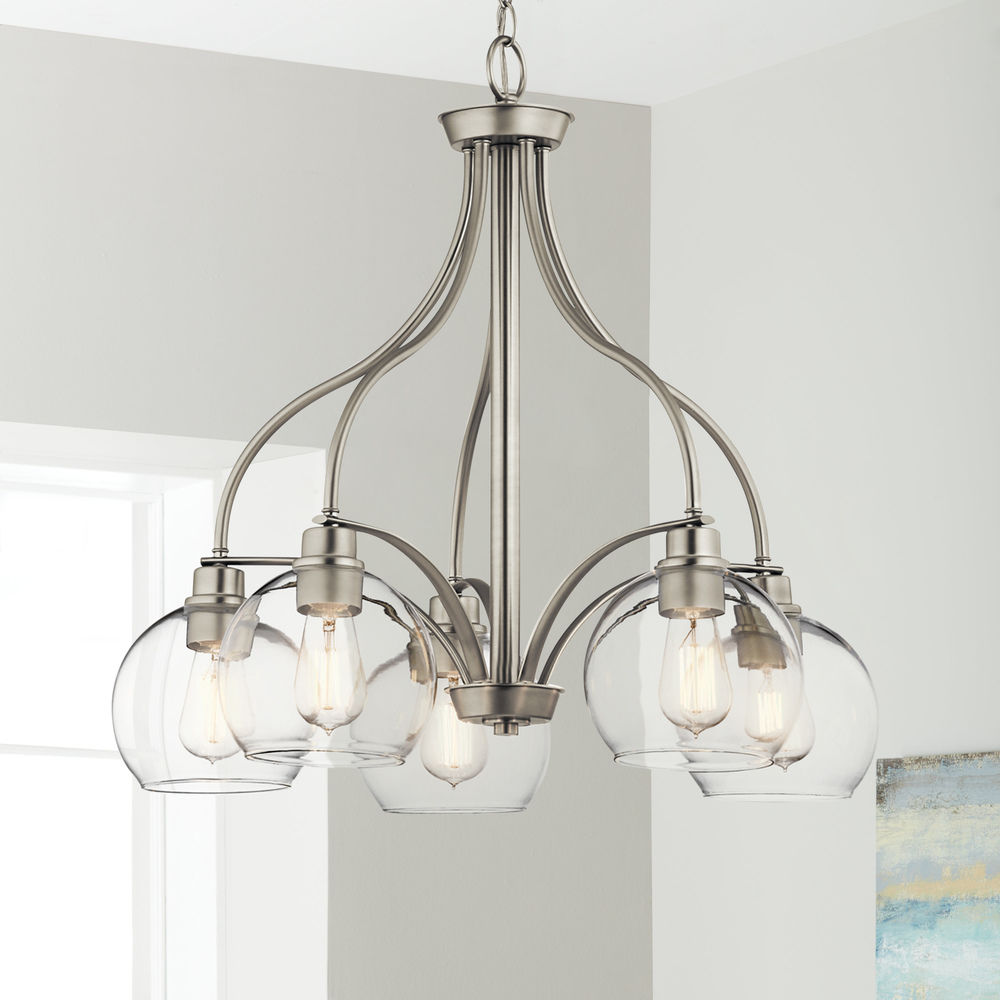 transitional chandelier brushed nickel harmony by kichler lighting at destination lighting