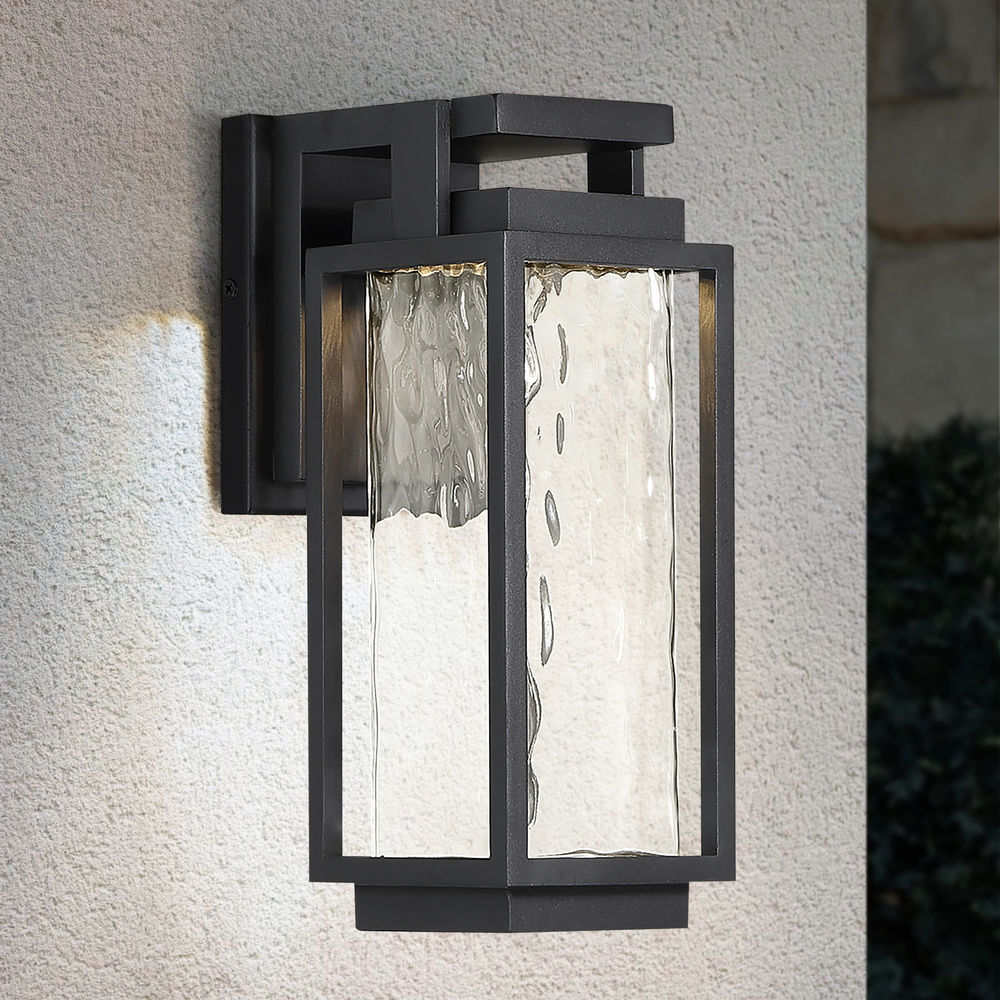 modern forms two if by sea black led outdoor wall light 3000k 870lm at destination lighting