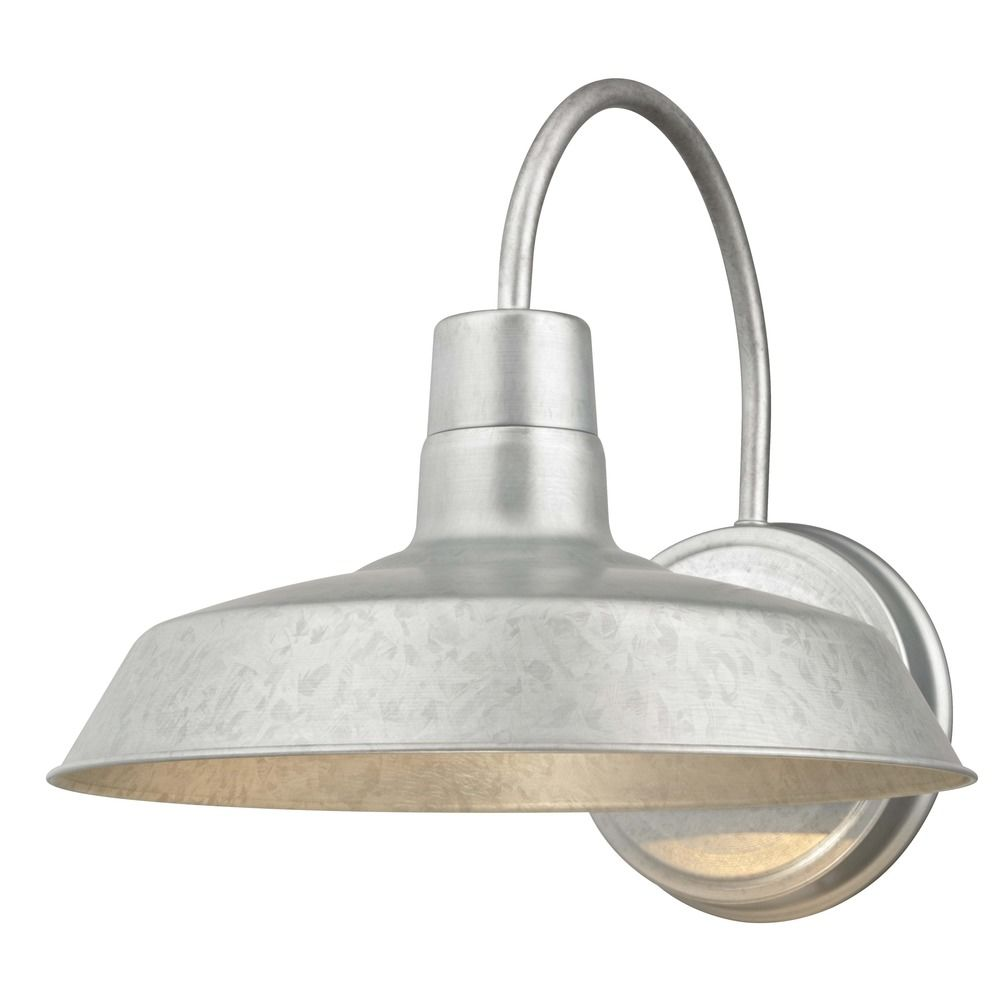 barn light galvanized 12 inch wide by design classics Galvanized Barn Light id=56829