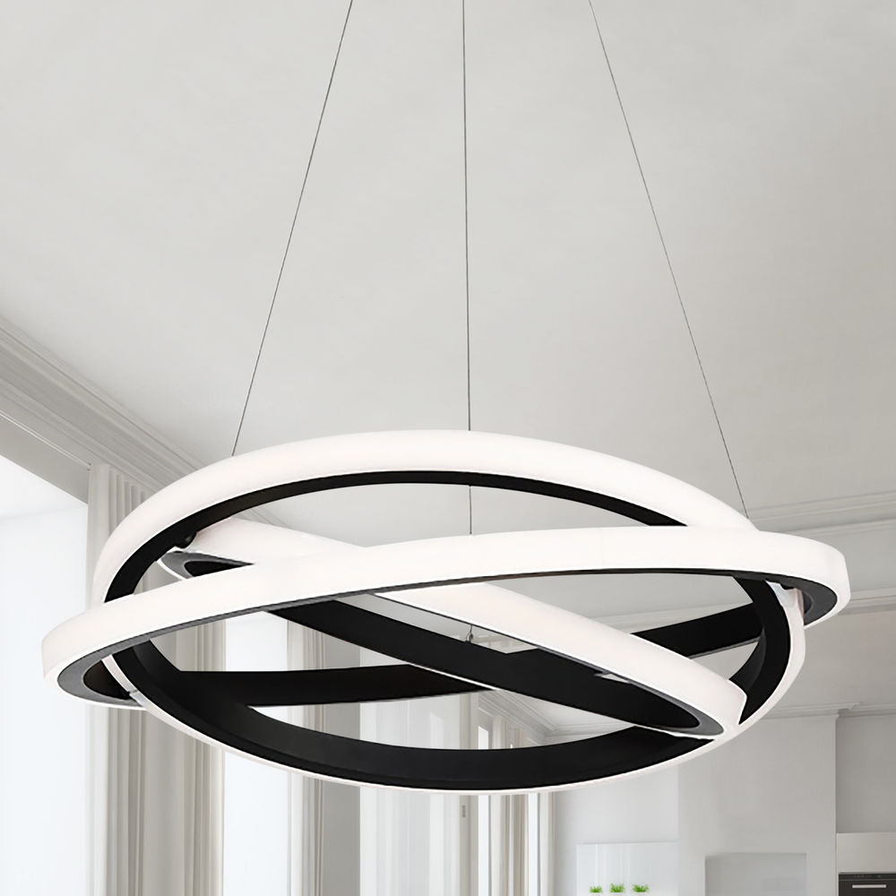 modern forms veloce black led chandelier 3000k 3593lm at destination lighting