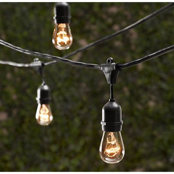 outdoor patio lighting string lights Outdoor Decorative Patio String Lights - 48 FT Long