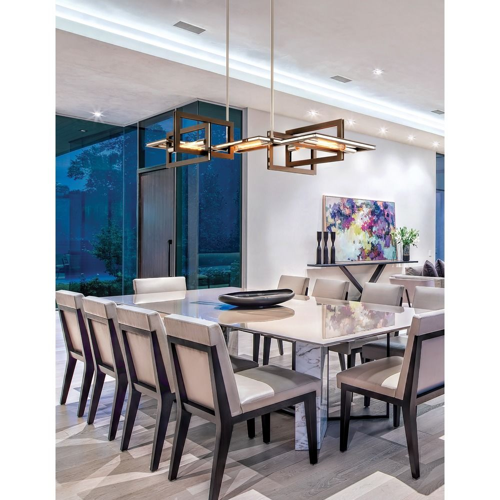 troy lighting enigma bronze with polished stainless island light at destination lighting