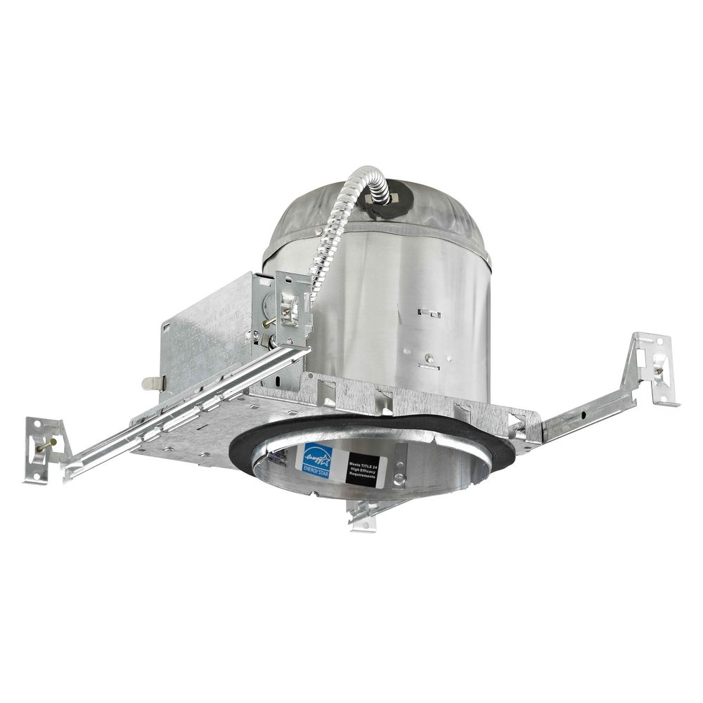 6 inch new construction gu24 recessed can light ic airtight flat ceiling at destination lighting