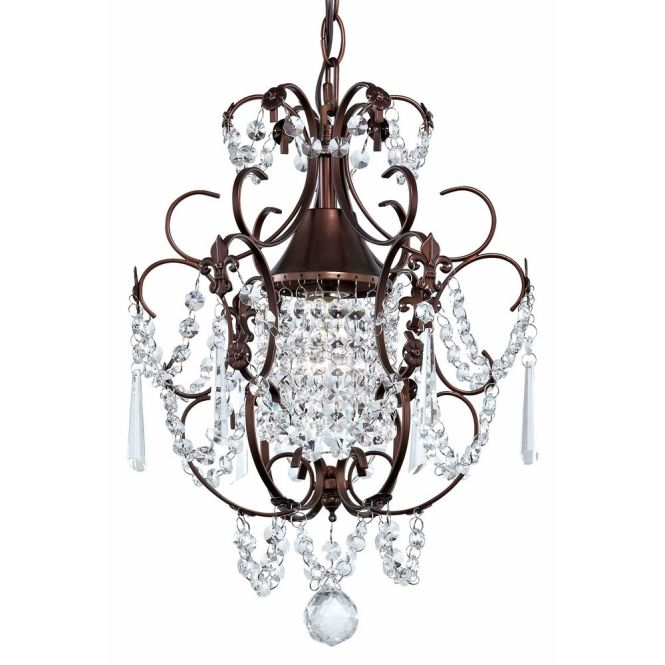 Ashford Classics Lighting Crystal Mini Chandelier Pendant Light In Bronze Finish 2233 220
