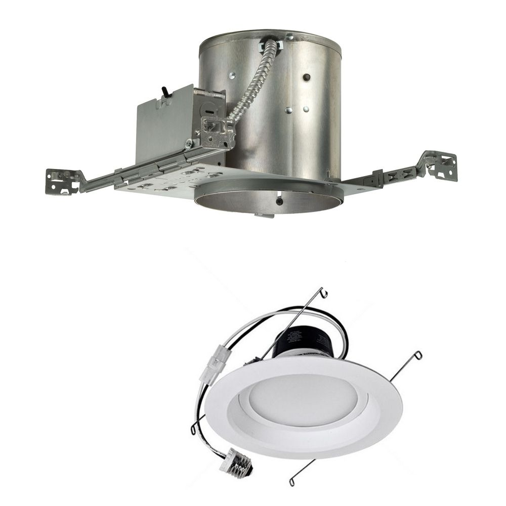 14 watt dimmable led 6 inch recessed lighting kit for new construction at destination lighting