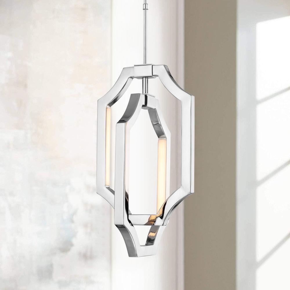 feiss lighting audrie polished nickel led mini pendant light at destination lighting