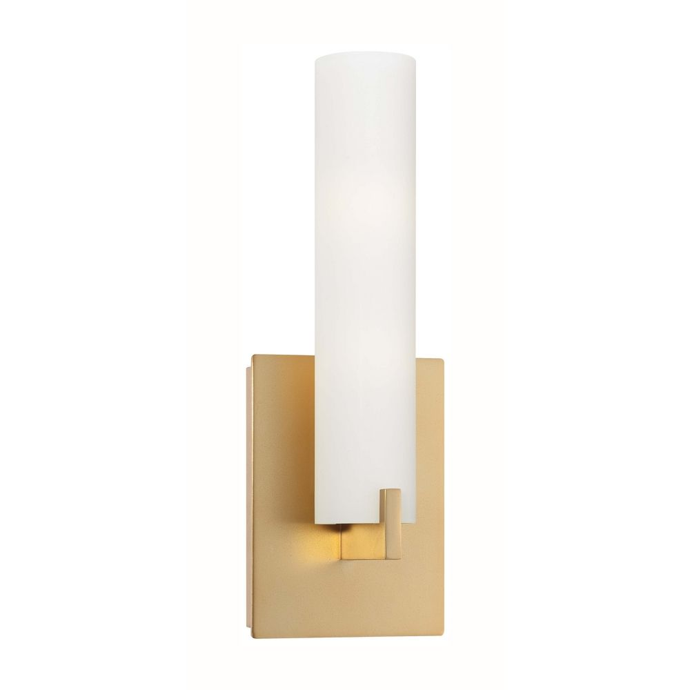 Modern Sconce Wall Light with White Glass in Honey Gold ... on Modern Wall Sconces id=27918