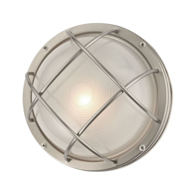 Marine Bulkhead Round Outdoor Wall Ceiling Light 10 Inches Wide