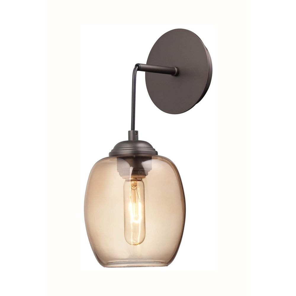 Modern Sconce Wall Light in Copper Bronze Patina Finish ... on Modern Wall Sconce Lights id=51860