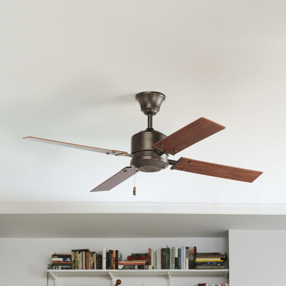 progress ceiling fan without light in antique bronze finish at destination lighting