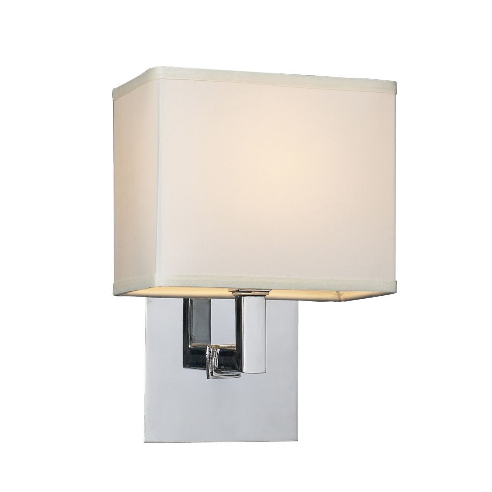 Modern Sconce Wall Light with White Shade in Polished ... on Modern Wall Sconces id=24663