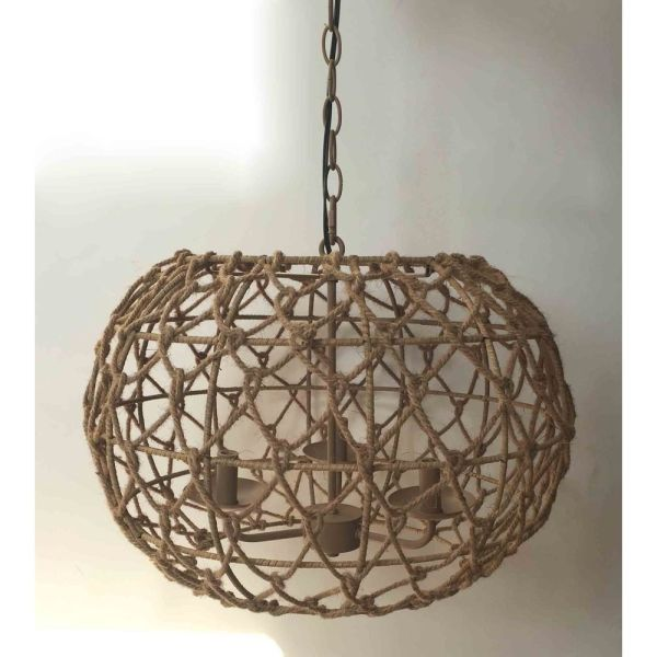 Kenroy Home Torus Tan Pendant Light with Oblong Shade   92072TN     Kenroy Home Torus Tan Pendant Light with Oblong Shade rm1