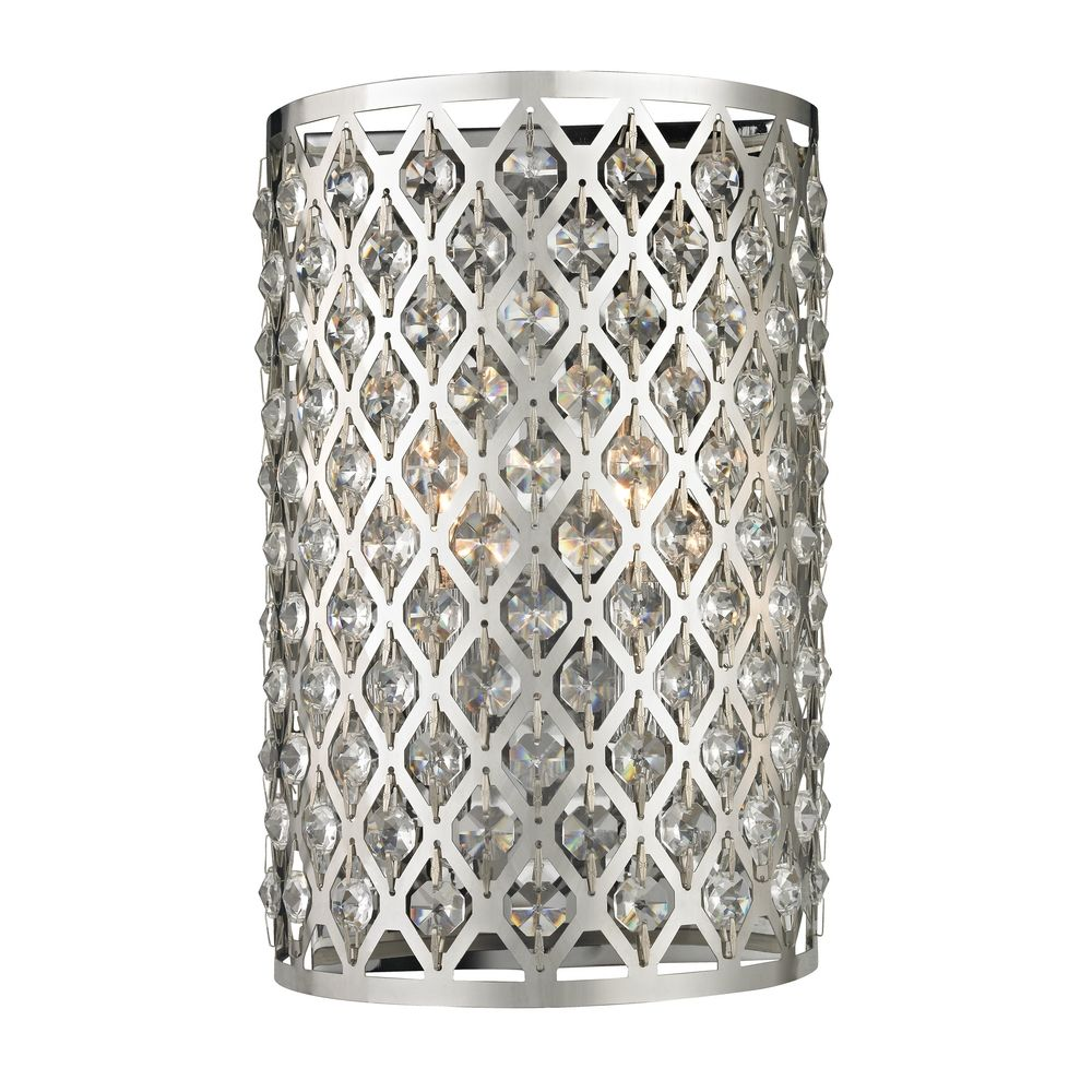 Modern Crystal Wall Sconce with Two Lights | 2248 ... on Modern Wall Sconce Lights id=48897